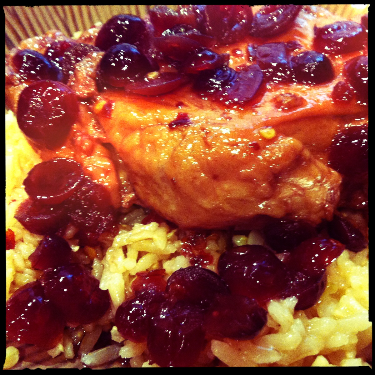 Pomegranate Cherry Chicken