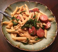 Sausage & Spinach Penne